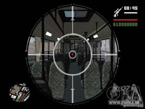 Ikarus 415.02 pour GTA San Andreas vue de dessous
