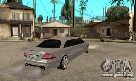 Mercedes-Benz CL65 Limusine für GTA San Andreas rechten Ansicht
