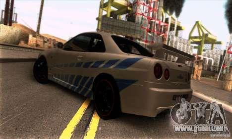 Nissan Skyline R34 GT-R Tunable pour GTA San Andreas vue de droite