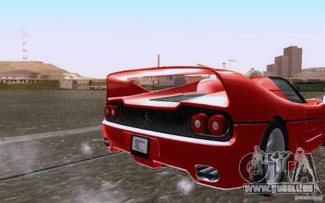 Ferrari F50 v1.0.0 1995 pour GTA San Andreas vue arrière