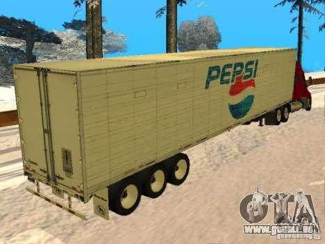 Trailer Artict3 pour GTA San Andreas sur la vue arrière gauche