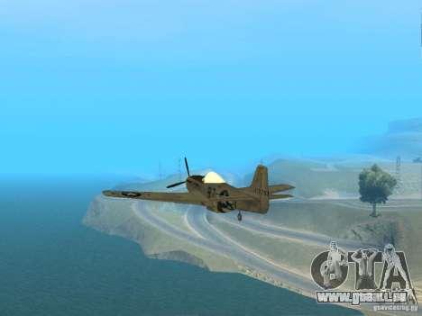 P-51 Mustang pour GTA San Andreas vue de droite