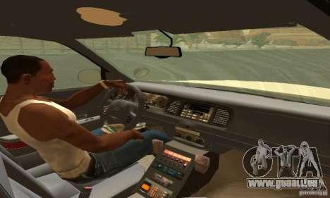 Ford Crown Victoria Puerto Rico Police pour GTA San Andreas sur la vue arrière gauche