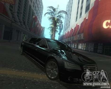 Audi A8 2011 Limo für GTA San Andreas Rückansicht