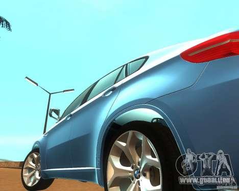 BMW Motorsport X6 M v. 2.0 pour GTA San Andreas vue intérieure