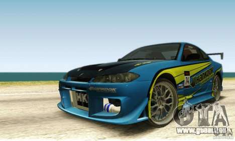 Nissan Silvia S15 pour GTA San Andreas vue de dessus
