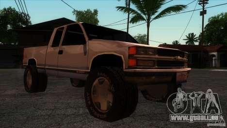 Chevrolet Silverado 1996 pour GTA San Andreas vue arrière