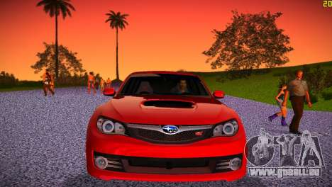 Subaru Impreza WRX STI (GRB) - LHD pour une vue GTA Vice City de l'intérieur