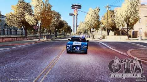 POLICIA FEDERAL MEXICO DODGE CHARGER ELS pour GTA 4 est un côté