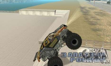 Monster Truck Maximum Destruction für GTA San Andreas Rückansicht