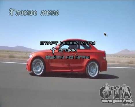 Video-Hintergründe im Menü für GTA San Andreas zweiten Screenshot