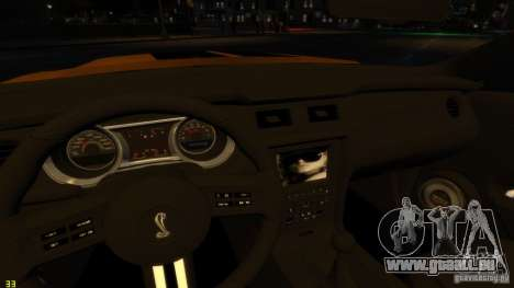 Ford Shelby Mustang GT500 2011 v2.0 pour GTA 4