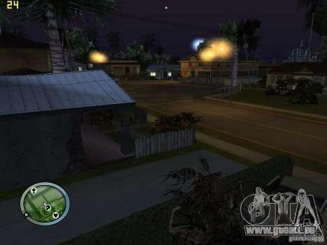 Voitures accidentées sur Grove Street pour GTA San Andreas deuxième écran