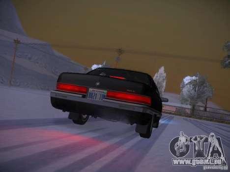 Buick Roadmaster 1996 pour GTA San Andreas vue de dessus