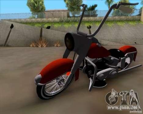 Harley-Davidson FL Duo Glide 1961 (Lowrider) pour GTA San Andreas laissé vue