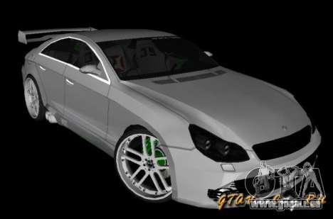 Mercedes-Benz CLS500 The GreenFairy TUNING pour GTA San Andreas laissé vue