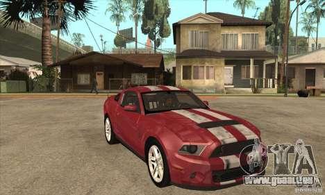 Shelby GT500 2010 pour GTA San Andreas vue arrière
