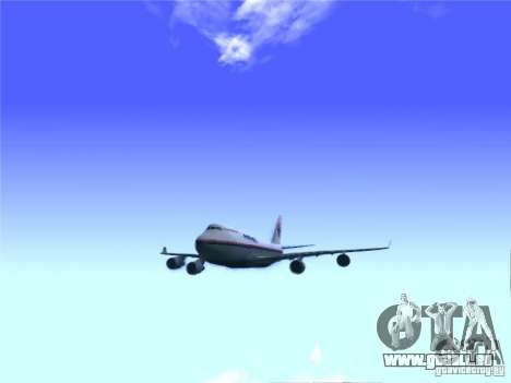 Boeing 747-400 Malaysia Airlines für GTA San Andreas rechten Ansicht