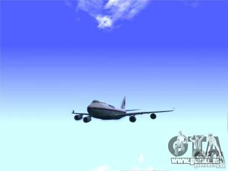 Boeing 747-400 Malaysia Airlines pour GTA San Andreas vue de droite