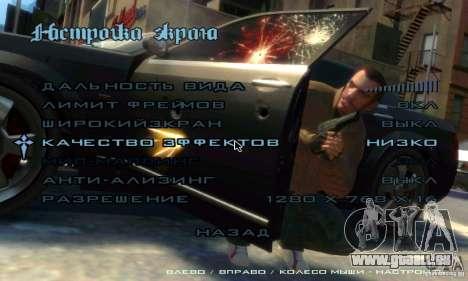Menu dans le style de GTA 4 pour GTA San Andreas troisième écran