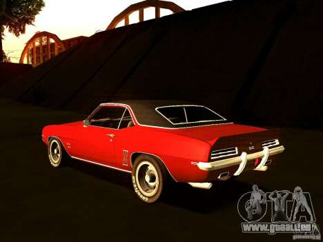 Chevrolet Camaro 1967 pour GTA San Andreas laissé vue