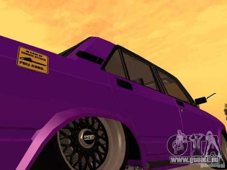 VAZ 2107 JDM pour GTA San Andreas vue de dessus