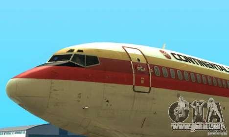Boeing 707-300 pour GTA San Andreas sur la vue arrière gauche