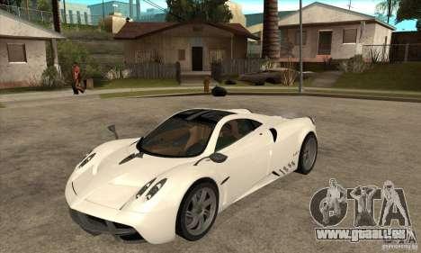 Pagani Huayra ver. 1.1 pour GTA San Andreas laissé vue