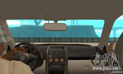 Lexus IS300 2005 pour GTA San Andreas vue arrière