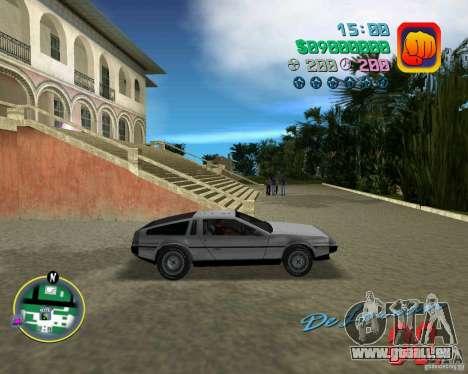 DeLorean DMC 12 pour GTA Vice City vue latérale