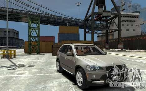 BMW X5 2009 pour GTA 4 Vue arrière