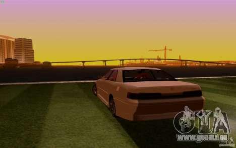 Toyota Mark 2 JZX100 pour GTA San Andreas sur la vue arrière gauche
