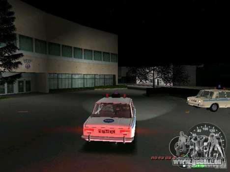VAZ 2101 Police pour une vue GTA Vice City de la droite