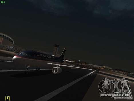 Airbus A319 USAirways pour GTA San Andreas laissé vue