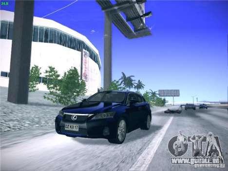 Lexus CT200H 2012 pour GTA San Andreas vue arrière