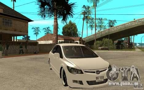 Honda Civic FD pour GTA San Andreas vue arrière
