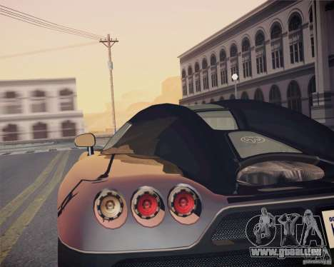 Koenigsegg CCX 2006 v2.0.0 pour GTA San Andreas vue arrière