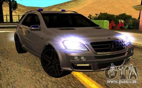 Mercedes-Benz ML63 AMG W165 Brabus pour GTA San Andreas vue intérieure