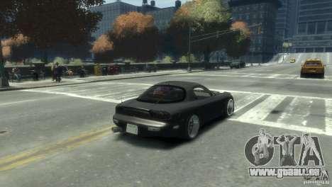 Mazda RX-7 FD3s für GTA 4 hinten links Ansicht