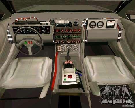BTTF DeLorean DMC 12 für GTA Vice City linke Ansicht