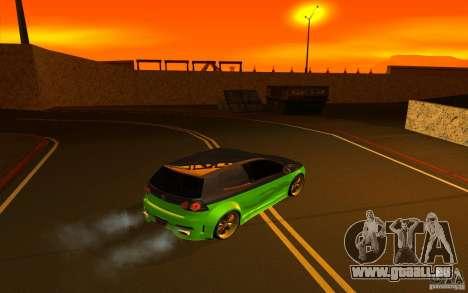 Volkswagen Golf V R32 Custom für GTA San Andreas Innenansicht