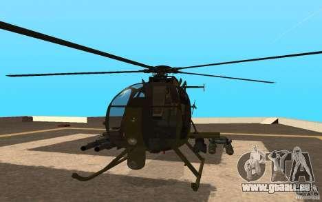 AH 6 pour GTA San Andreas vue arrière