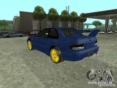 Subaru Impreza 22B STI pour GTA San Andreas laissé vue