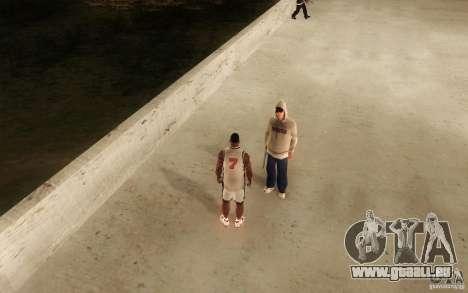 Sombras mais fortes em pedestres pour GTA San Andreas cinquième écran