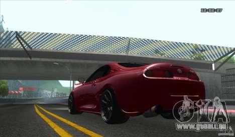 Toyota Supra Stance pour GTA San Andreas vue de droite