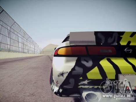 Nissan Silvia S14 Matt Powers 2011 pour GTA San Andreas sur la vue arrière gauche