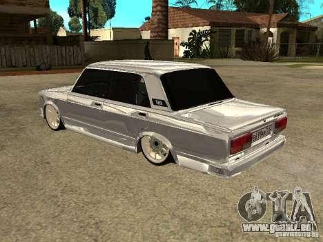 VAZ 2107 Convertible pour GTA San Andreas vue de droite