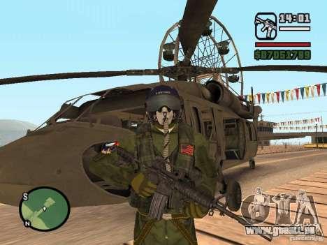 US Air Force pour GTA San Andreas deuxième écran