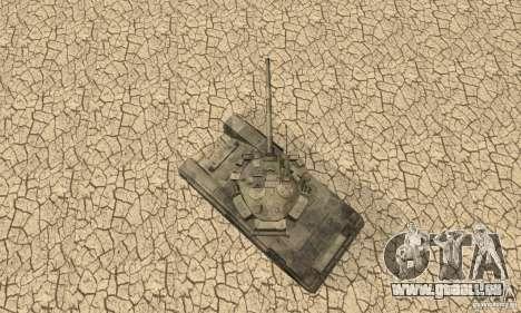 Char t-90 « Vladimir » pour GTA San Andreas vue arrière