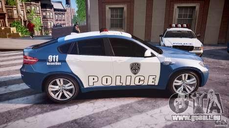 BMW X6M Police pour GTA 4 est un côté